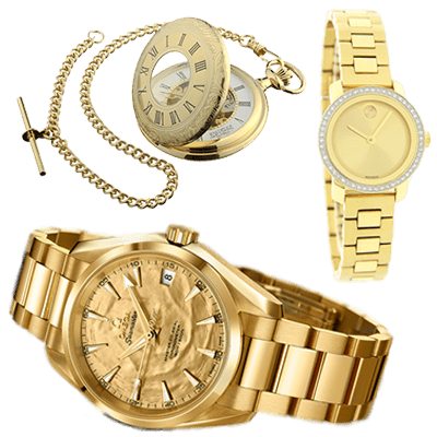 We buy gold watches and gold pocket watches, tennis watches too!