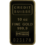 10 OZ CREDIT SUISSE – PURE GOLD BARS