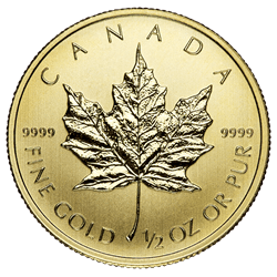 1/2 OZ COMMON DATE - CANADIAN GOLD MAPLE LEAF