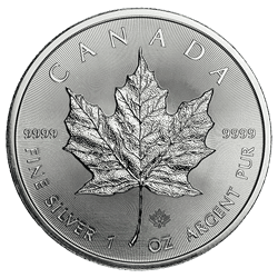 1 OZ COMMON DATE - CANADIAN SILVER MAPLE LEAF