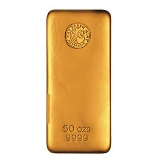 Gold Bar, Gold Bullion, 50oz Gold Bar, Perth Mint, Invest In Gold