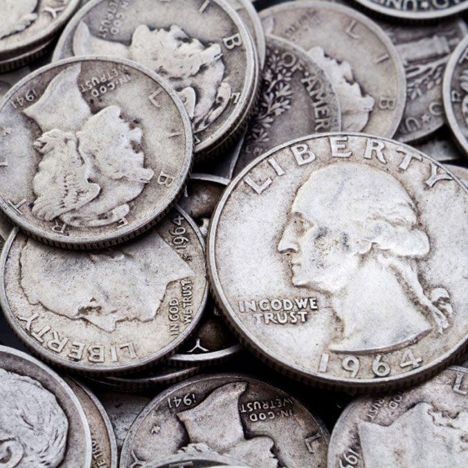 Silver Coins, Junk Silver, 90% Silver