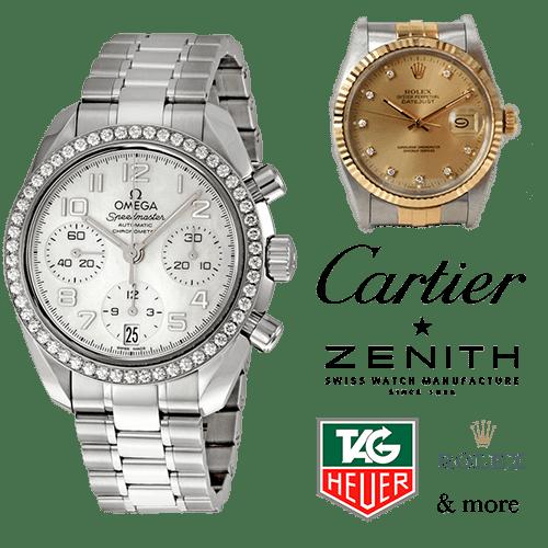 We buy diamond luxury and swiss made watches
