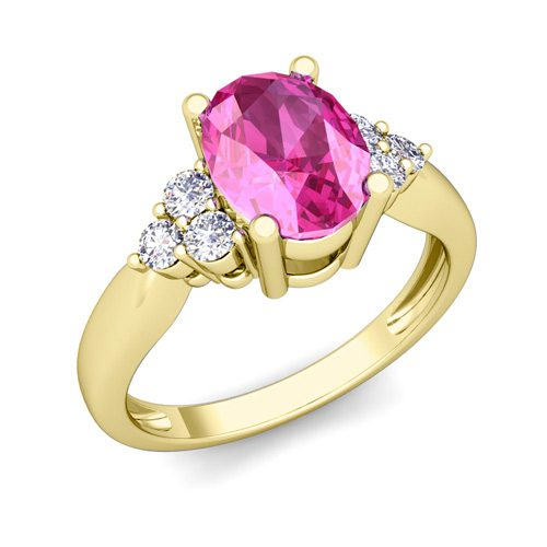 Gold and Sapphrire Engagement Ring