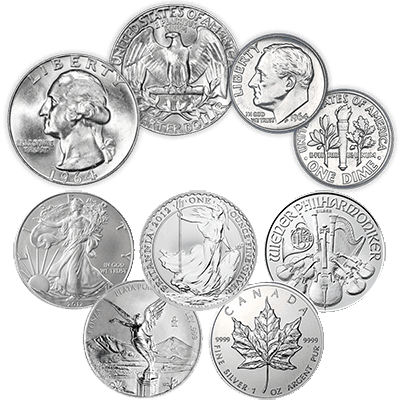 we buy silver coins, sterling silver coins, silver rounds, and silver bullion