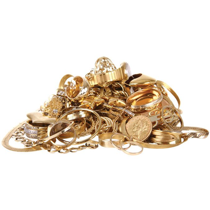 Pile Of Gold Jewelry-sell Your Gold