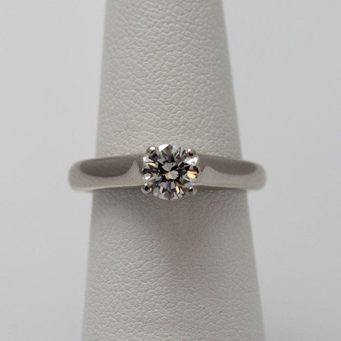 Platinum Solitaire Diamond Wedding Ring