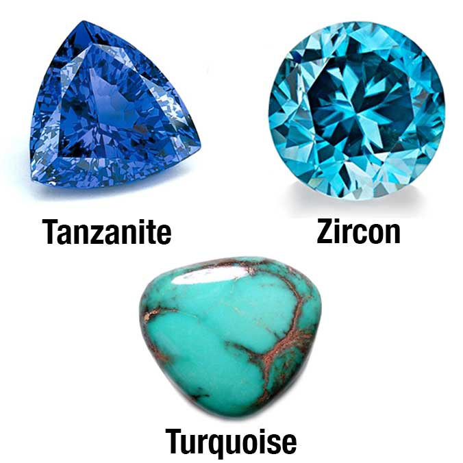 The Three December Birthstones Are Tanzanite, Turquoise, And Zircon